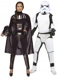 Costume di Coppia Dart Fener per donna e Stormtrooper Star Wars™