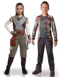 Costume di coppia deluxe Rey e Finn per bambino - Star wars™