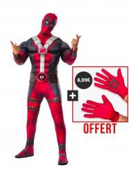 Kit costume lusso adulto Deadpool™ e guanti