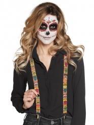 Bretelle messicane con teschi di vari colori