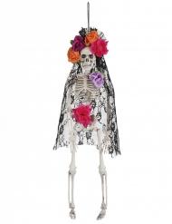 Decorazione da appendere scheletro messicano dia de los muertos