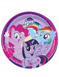 8 piatti viola di carta My little Pony™