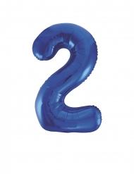 Palloncino in alluminio numero 2 blu