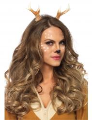 Cerchietto con corna da cervo per donna