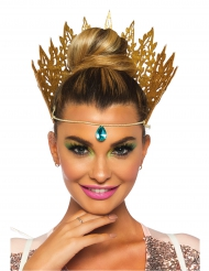 Corona dorata da regina per donna