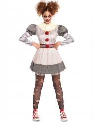 Costume da clown terrificante per donna