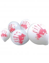10 Palloncini con mani insanguinate 23 cm