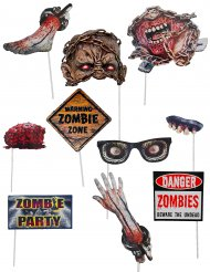 Kit 10 accessori photobooth zombie