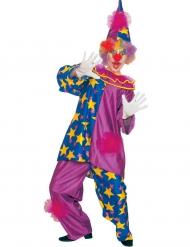 Costume da clown delle stelle viola per adulto