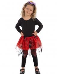 Tutu ragno rosso e nero per bambina
