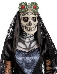 Maschera in tessuto Dia de los muertos per adulto