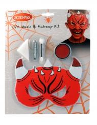Kit trucco e maschera da diavoletto