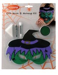 Kit maschera e trucco da strega