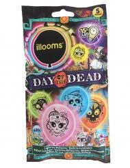 5 palloncini a led Illoms™ multicolore Dia de los muertos