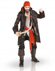 Costume da capitano pirata taglia gole per adulto