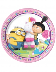 8 Piatti Minions Unicorno™ 23 cm