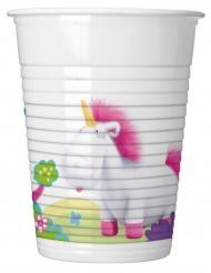 8 bicchieri Minions™ unicorno