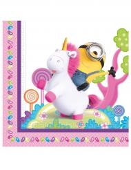 20 Tovaglioli Minion e Unicorno™ 33 cm