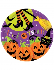 8 Piattini di carta Trick or Treat