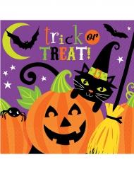 16 Tovaglioli di carta Happy Halloween