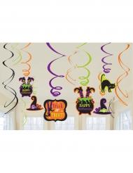 12 Spirali Happy halloween colorate