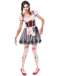 Costume Oktoberfest zombie per donna