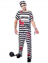 Costume da carcerato zombie per uomo
