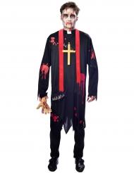 Costume da prete zombie per uomo