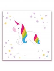 20 Tovaglioli in carta Unicorno Bianco 33 cm