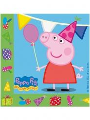 20 tovaglioli di carta Peppa Pig™ verdi