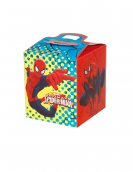 4 scatole quadrate in cartone Spiderman™ 9.5 x 9.5 x 11 cm