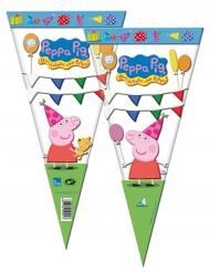 6 sacchetti regalo triangolari Peppa Pig™
