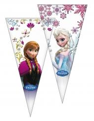 6 Buste regalo triangolari Frozen™ 20 x 40 cm