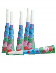 6 Trombette in cartone Peppa Pig™
