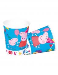 8 bicchieri di carta blu Peppa Pig™