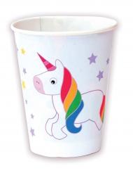 8 bicchieri di carta Unicorno