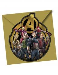 6 Inviti di compleanno Avengers Infinity War™ con busta di plastica