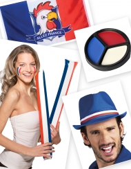 Kit supporter blu bianco e rosso