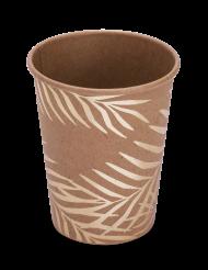 8 Bicchieri in carta kraft palme dorate 200 ml