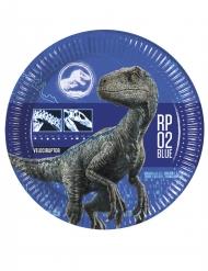 8 Piatti in cartone Jurassic World 2 23 cm