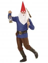 Costume da nano blu per adulto