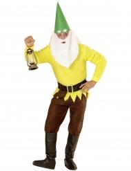 Costume da nano della miniera giallo per adulto