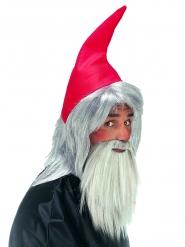 Cappello e barba da nano per adulto