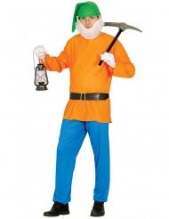 Costume nano della miniera arancione per adulto