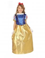 Costume satinato da principessa della foresta per bambina
