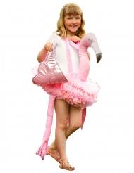 Costume Carry Me fenicottero rosa per bambino