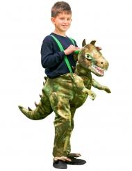 Costume bambino a dorso di dinosauro