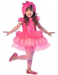 Costume da fenicottero rosa per bambina