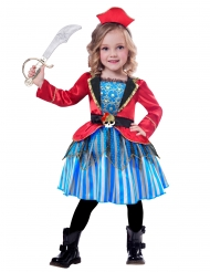 Costume da piccola pirata in gonna per bambina
