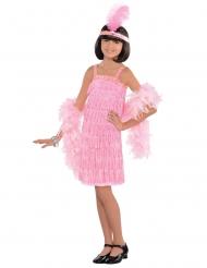 Costume Charleston rosa per bambina